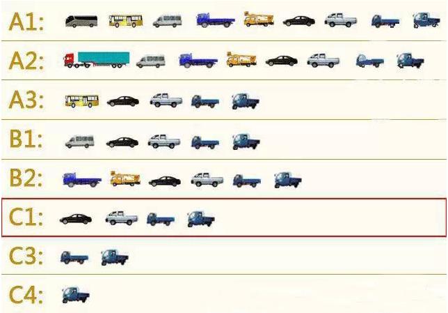 C1照可以开的车型和C1可以开几座车规定
